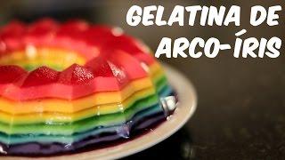 A deliciosa gelatina arco-íris (receita)