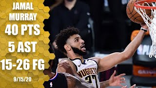 Jamal Murray scores 40 points for Nuggets vs. Clippers [GAME 7 HIGHLIGHTS]