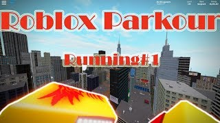 Roblox Parkour running# 1 my first run with pg :D