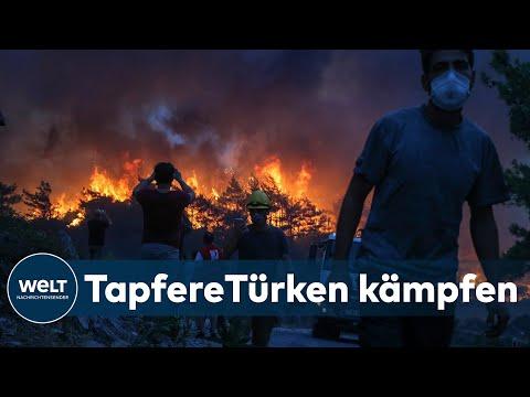 Download FLAMMENHÖLLE TÜRKEI: Feuerwehr verteidigt verzweifelt Touristenorte gegen Feuerwalze