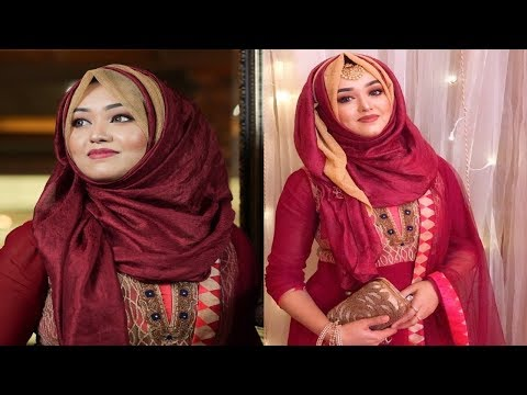 Easy Party Hijab Tutorial By Two Hijab || Nawreen
