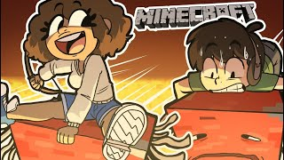 Racing on the NEW MOB STRIDER against my GIRLFRIEND! (Minecraft Nether Update 1.16)