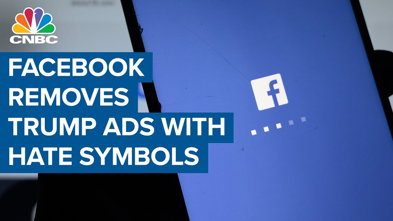 Facebook takes down Pres. Donald Trump reelection ads featuring hate symbol