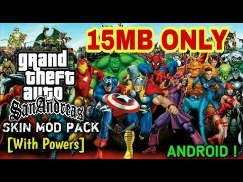 15MB)SUPER HERO MOD WITH (POWERS) IN GTA SAN ANDREAS(download+