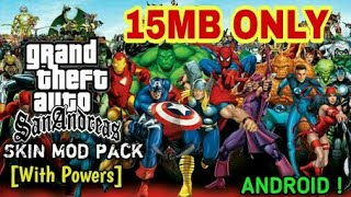 SUPER HERO MOD WITH IN GTA SAN ANDREAS