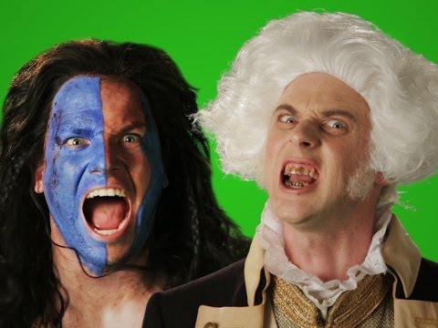 George Washington vs William Wallace. Behind the Scenes of Epic Rap Battles of History.