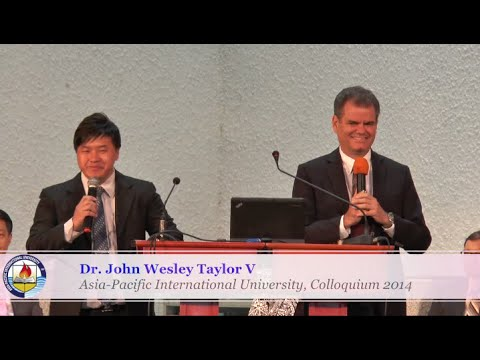 Dr. John Wesley Taylor V Sermon on A Biblical Foundation for Adventist Education