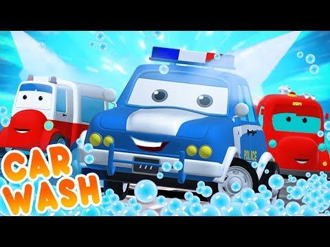 Road Rangers Go To Car Wash | Car Cartoons For Children
