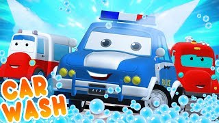 Road Rangers Go To Car Wash | Car Cartoons For Children