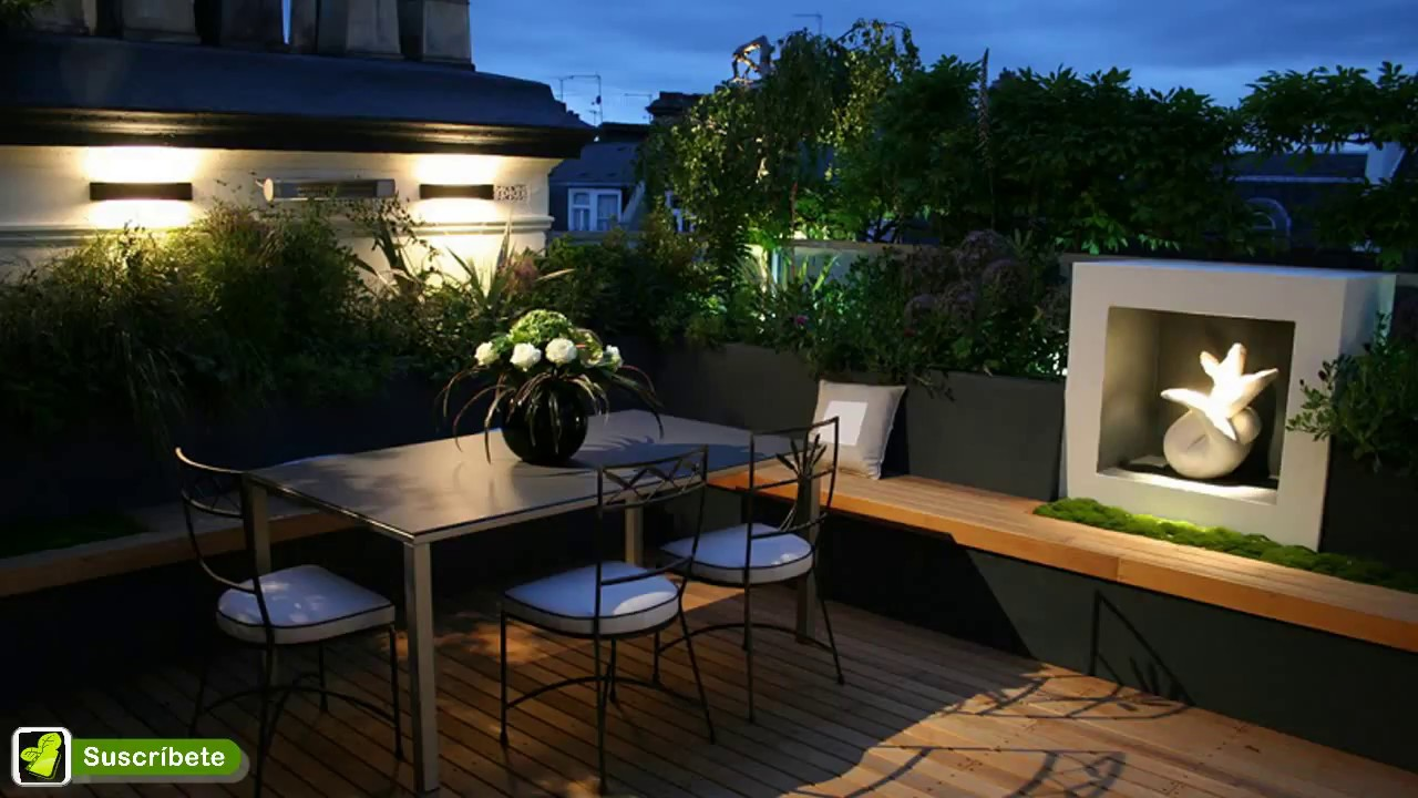 Ideas para decorar e iluminar paredes de patios terrazas - Ideas para patios y jardines ...