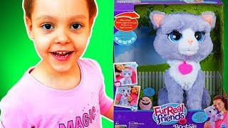 Распаковка игрушки из серии Furreal Friends. Интерактивная игрушка Котенок Бутси. Сумочка для Кати ❤