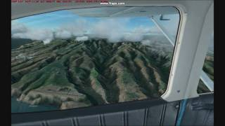 FS2004 Flying above Canary islands