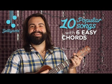 Play 10 Popular Songs With 6 Easy Chords Ukulele Tutorial With