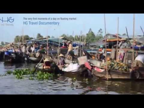 [HG Travel] Floating market in Soc Trang, Vietnam