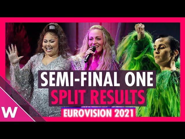 Eurovision 2021: Semi-Final 1 Split Results (REACTION)