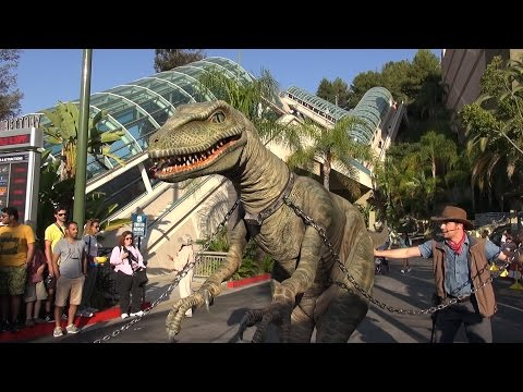 Raptor Encounter at Universal Studios Hollywood FULL Experience, Jurassic World / Park - Tango