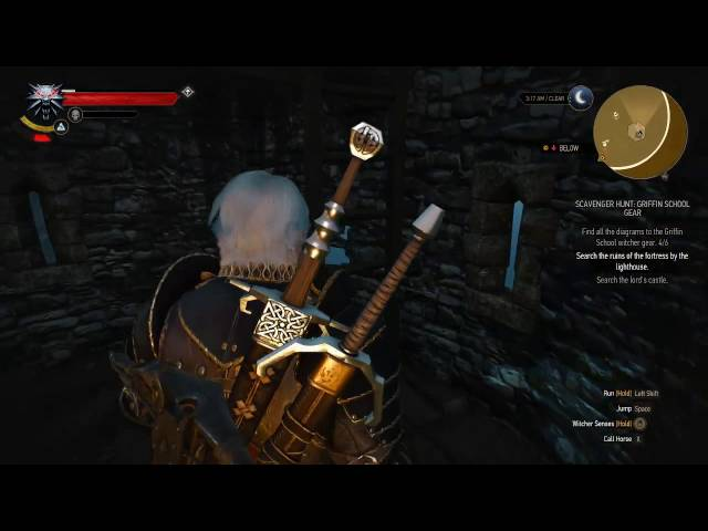 The Witcher 3 Griffin School Gear Search The Ruins Of The Lighthouse Youtube