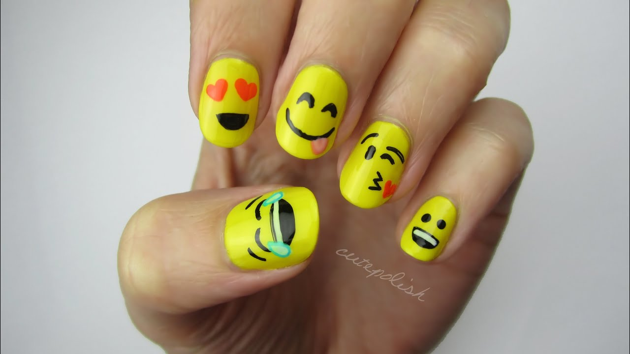Emoji Nail Art! - YouTube