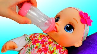 Funny Pretend play with dolls  by Alice and Toys  // Morning routine with Baby Alive