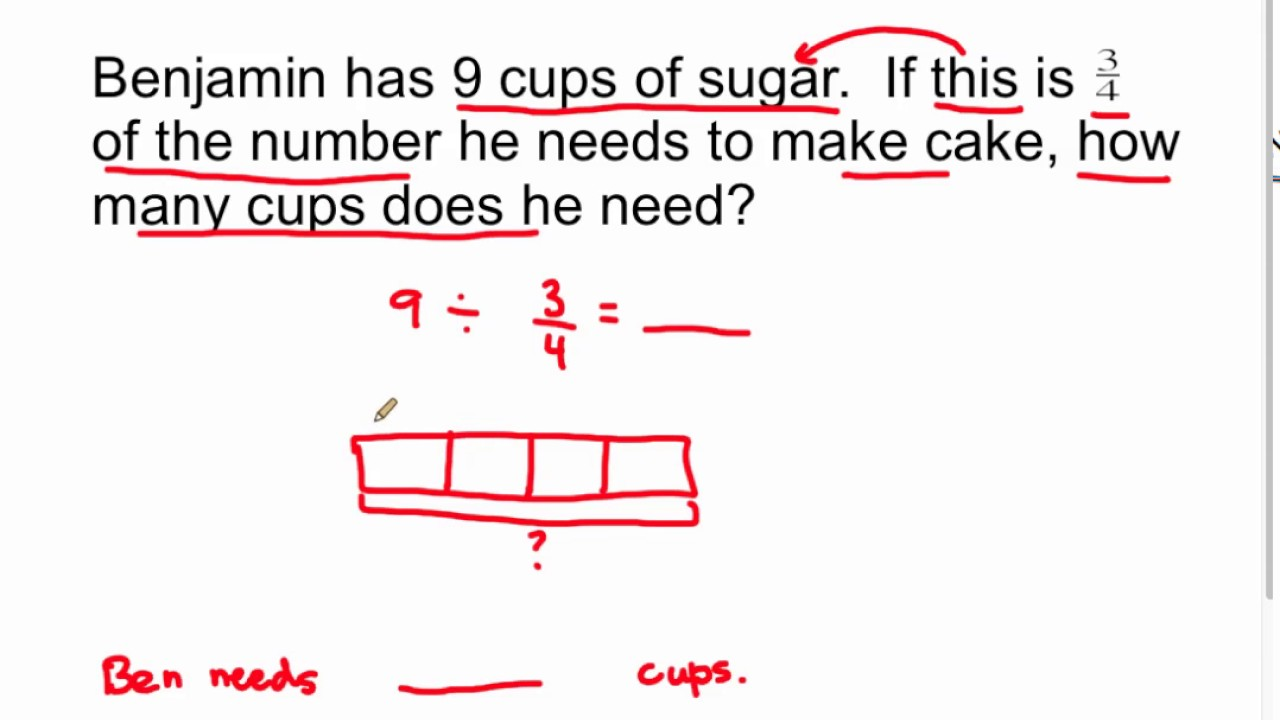 6.NS.1 - Division of Whole Number by Fraction Word Problem