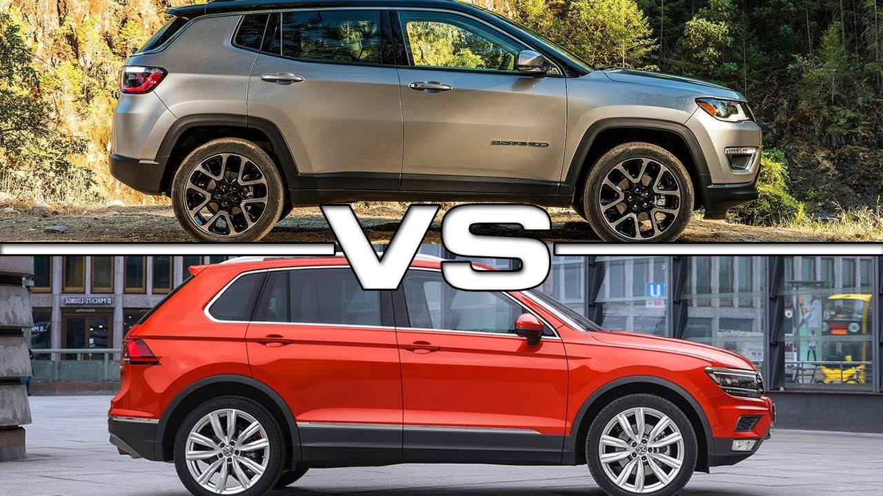 2017 jeep compass vs 2017 volkswagen tiguan - youtube