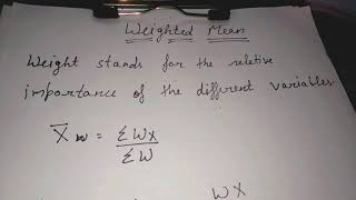 Weighted average mean in hindi and simple language