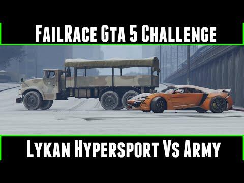 FailRace Gta 5 Challenge Lykan Hypersport Vs Army