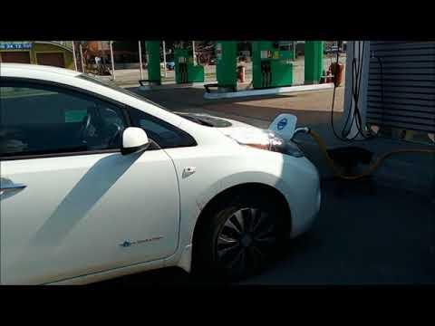 видео: Тест Nissan Leaf с двойной батареей на CHADEMO
