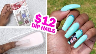 Doing my Nails using the Kiss Dip Powder Nail Kit