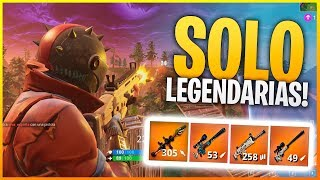 FORTNITE: *NUEVO MODO* SOLO ARMAS LEGENDARIAS! Solo Vs Squad | Makina