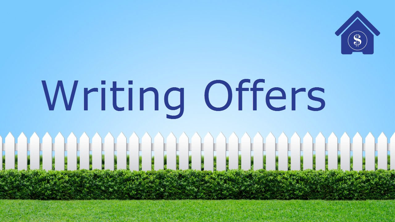 how to write an offer to purchase a house