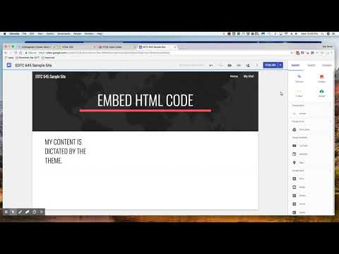 Creating HTML Basic Code In Google Sites