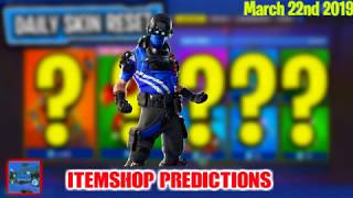 March 22nd - Fortnite item shop Predictions (NEW SKINS?)