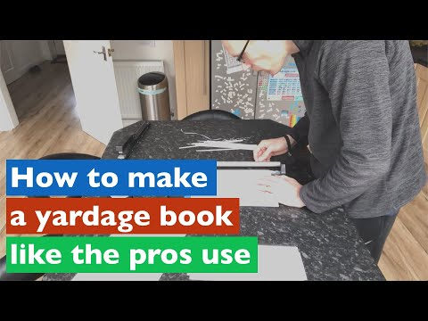 How To Make A Yardage Book Just Like The Golf Pros Use