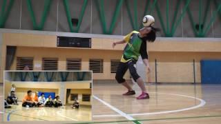 フリースタイルフットボールパフォーマンス Freestyle football performance