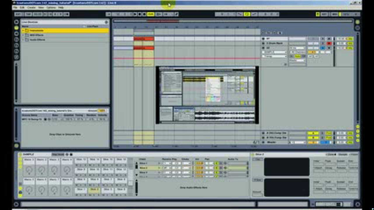 How to pitch (transpose) a sample in ableton live w/ macro & midi.