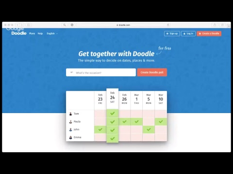 How To Use Doodle: Easy Scheduling