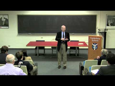 Dr. A. Gary Shilling talks to Canterbury students about Economics - 2 ...