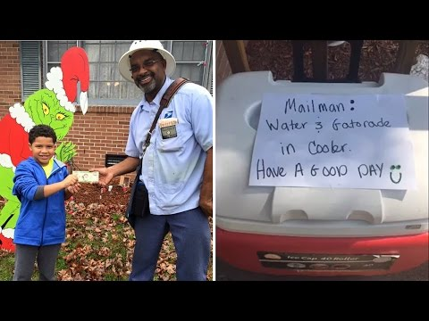 8-Year-Old Boy Makes Mailman's Day By Leaving Him Gatorade and Special Note