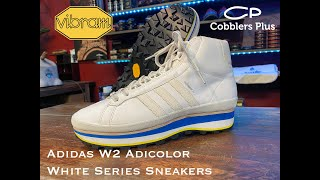 Adidas W2 Adicolor White Series Sneakers Customized with Vibram Soles