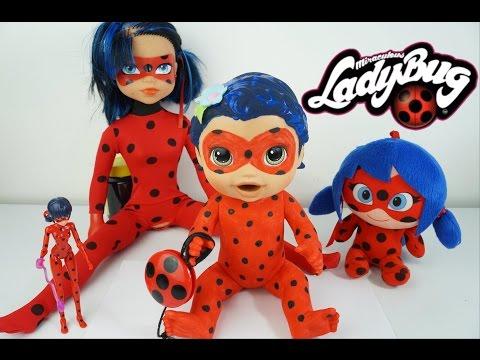 BABY ALIVE JUJU FANTASIADA DE LADYBUG E coleção Miraculous as Aventuras de Ladybug em Portugues