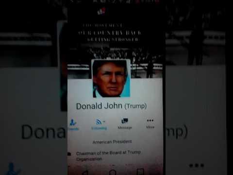 The White House -  U.S. President - Elect Donald Trump A Facebook Friend 2016