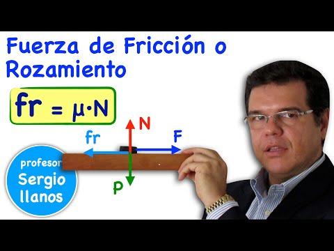 Fuerza de Fricción o rozamiento Coeficiente de fricción - Friction force