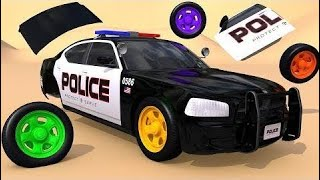 Learn Colors With Street Vehicles And How To Assembly Police Car Pretend Pla | Learn Color For Kids