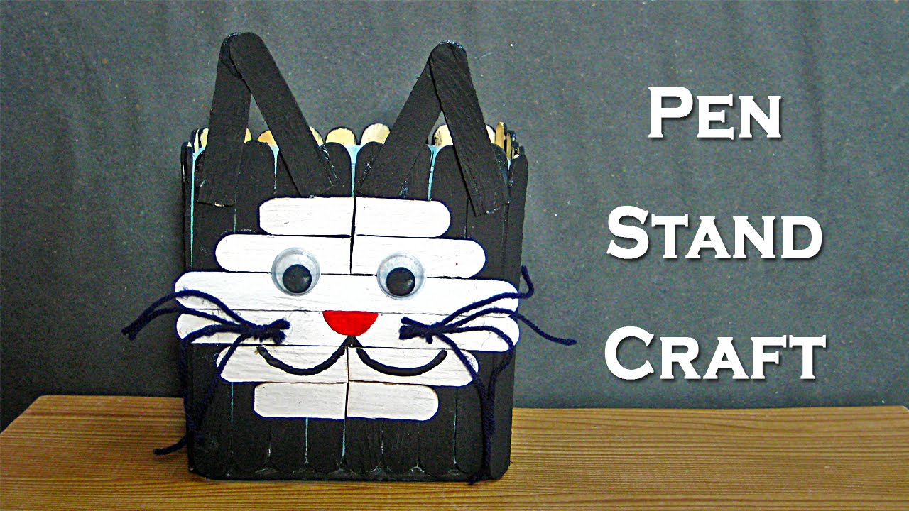 pen stand craft ideas pen stand craft for how to make pen stand from 5148