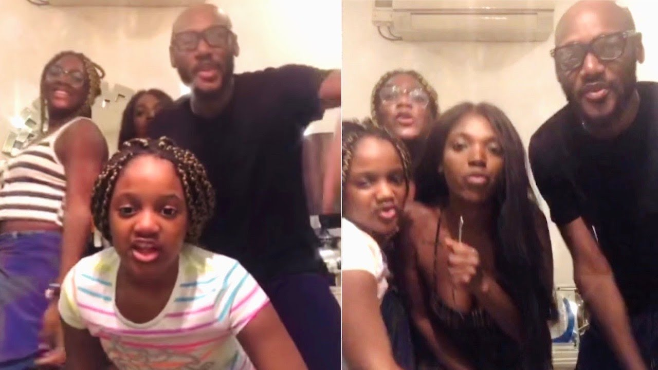 Download Watch 2face Idibia Beautiful Dance Steps With His Wife And Kids