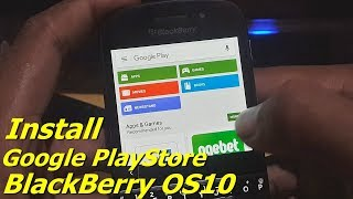 Install Google Playstore Di Blackberry Os10