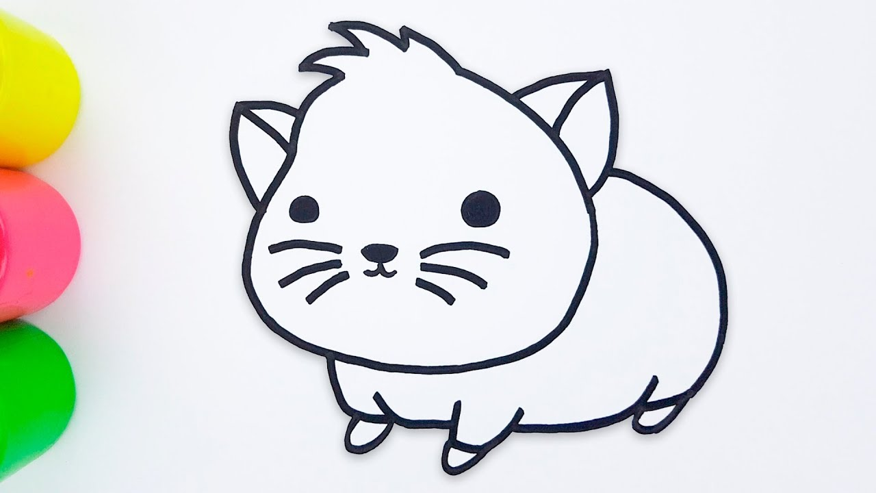 Glitter Hamster Coloring Pages and Drawing for Kids - Medea Art ...