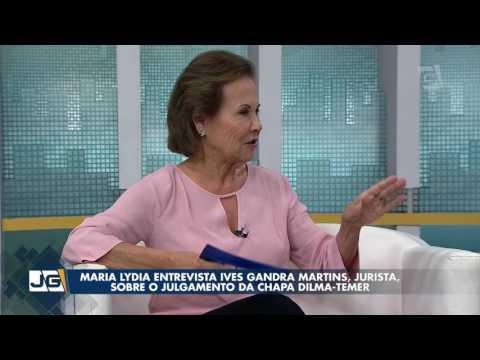 Maria Lydia entrevista Ives Gandra Martins, jurista, sobre o julgamento da chapa Dilma-Temer