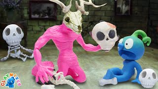 Skull Collector - Clay Mixer Stop Motion Animation